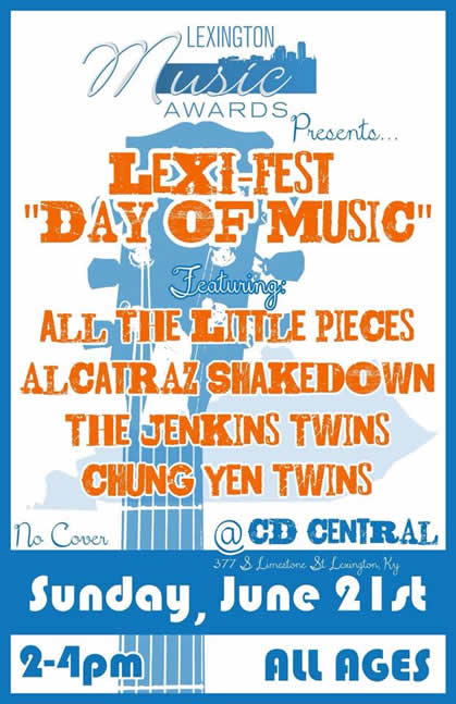 LEXI Fest Day Of Music CD Central 06-2015